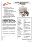Califone 3432IR-PLC User's Manual