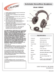 Califone 3068AV User's Manual