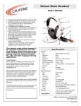 Califone 2964AV User's Manual