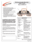 Califone 2395IRPLC-6 User's Manual