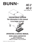 Bunn HC-3 User's Manual