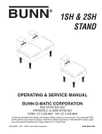 Bunn 1SH User's Manual
