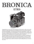 Bronica ETR-S Instruction Manual