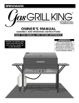 Brinkmann Gas Grill King User's Manual