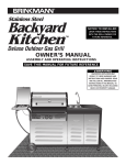 Brinkmann Backyard Kitchen User's Manual