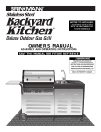 Brinkmann Backyard Kitchen Outdoor Gas Grill User's Manual