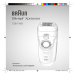 Braun Silkpil Xpressive 7281 WD User's Manual