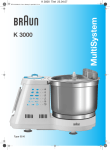 Braun MultiSystem K 3000 User's Manual