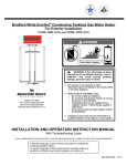 Bradford-White Corp TGHE-160E-N(X) User's Manual