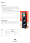 Bowers & Wilkins DM640i User's Manual