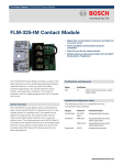 Bosch FLM325IM User's Manual