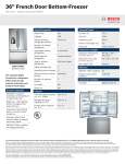 Bosch B26FT70SNS Product Information