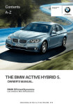 BMW 2015 ActiveHybrid 5 Owner's Manual