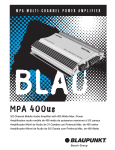 Blaupunkt 400US User's Manual
