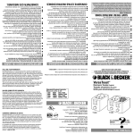 Black & Decker T1200 Use & Care Manual