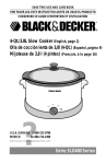 Black & Decker SLO400 Use & Care Manual