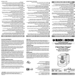 Black & Decker SC400 Use & Care Manual