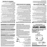 Black & Decker JE1200 Series User's Manual