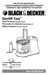 Black & Decker FP1200 Use & Care Manual