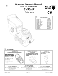 Billy Goat SV50HR User's Manual