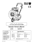 Billy Goat QB1601SP User's Manual