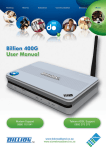 Billion Electric Company 400G User's Manual