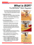 Bernina Stitch Regulator User's Manual