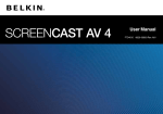 Belkin AV4 User's Manual