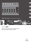 Behringer Xenyx 1002B Quick Start Guide