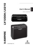 Behringer V-AMPIRE LX1200H/LX210 User's Manual