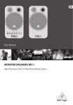 Behringer MS16 User's Manual