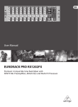 Behringer RX1202FX User's Manual