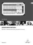 Behringer PMP2000 User's Manual