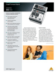 Behringer DJ Equipment Xenyx 302 USB User's Manual
