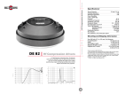B&C Speakers Hf Compression Drivers DE 82 User's Manual