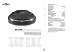 B&C Speakers Hf Compression Drivers DE 700 User's Manual