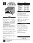 Bakers Pride Oven L-36GS User's Manual