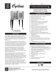 Bakers Pride Oven GDCO-E1 User's Manual