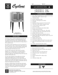 Bakers Pride Oven BCO-G1 User's Manual