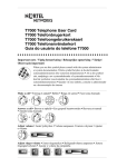 Avaya T7000 Telephone User's Manual
