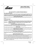 Audiovox PRO9232A User's Manual