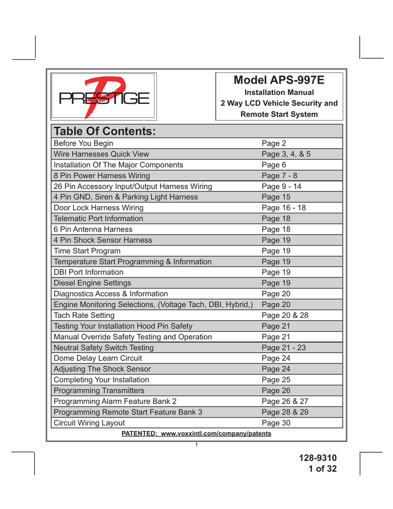 audiovox aps997e installation manual rh manualzilla com Car Alarm Security Systems