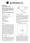AudioSource Speaker AC515W User's Manual