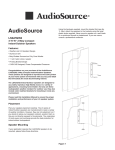 AudioSource 2-Way User's Manual