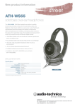 Audio-Technica ATH-WS55BK User's Manual