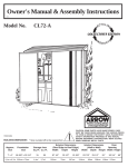 Arrow Plastic CL72-A User's Manual