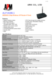 APM ALP-9186-1 User's Manual