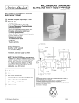 American Standard Williamsburg Champion Elongated Right Height Toilet 4281.702 User's Manual