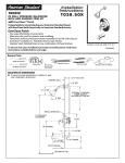 American Standard Tropic T038.50X User's Manual