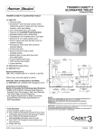 American Standard Triumph Cadet 3 Elongated Toilet 4007.100 User's Manual